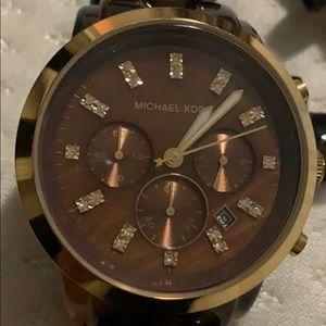 Michael Kors big face Tortoise watch